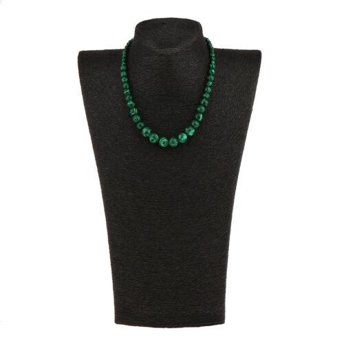 Blesiya Green Malachite Beads 4-12mm Bead Strand Choker Necklace for Wedding