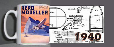 Aeromodeller Tazza Vintage Design 1940-mostra Il Titolo Originale