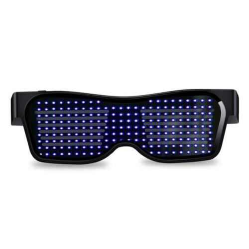 Bluetooth LED Glasses Light Up Glowing Flashing DIY Dance Performance DJ Party