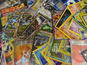 Pokemon Card Bundle Joblot 75x Cards HOLOS GUARANTEED Mixed Random Lot!