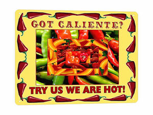 MEXICAN-hot-peppers-metal-SIGN-hot-sauce-collectible-resaurant-style-decor-182