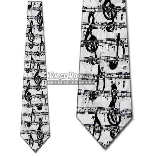Sheet Music Tie G Clef Neckties Mens Musical Notes Neck Tie Brand New