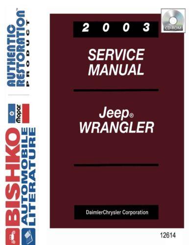2003 Jeep Wrangler Shop Service Repair Manual CD Anleitungen ...