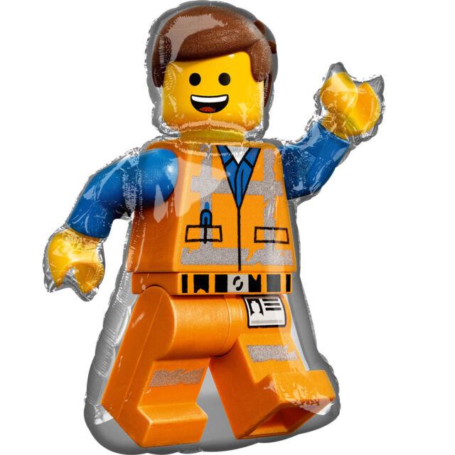 """Lego Movie 2 EMMETT Foil Balloon Birthday Party Decoration Supplies ~32"""""""