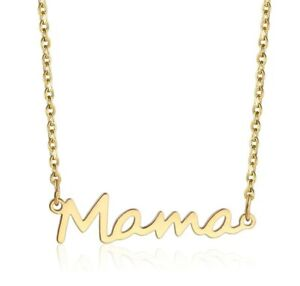 Mama Necklace Gold Plated Stainless Steel Mom Necklace