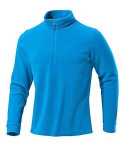 Medico-Herren-Ski-Shirt-Fleece-Pullover-Rolli-langarm-mit-Zippe-Blau-Atlantic