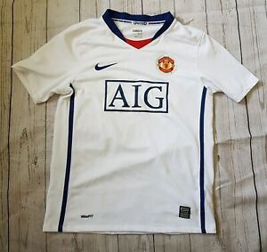 new products 3b03f 6cd18 Details about B18 Manchester United Football Top. Boys Junior Large 12/13  mufc white nike