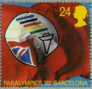 GREAT-BRITAIN-1992-British-Paralympic-Association-Symbol-Barcelona-039-92-1452