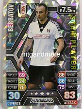 Match Attax 2013/14 Premier League - #125 Dimitar Berbatov - Star Player