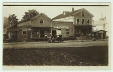 RARE 1908 - RPPC Brooklyn PA Stores Street Real Photo Susquehanna County