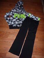 Victorias Secret Pink pink Palm Full Zip Hoodie Yoga Pant Set Or Piece