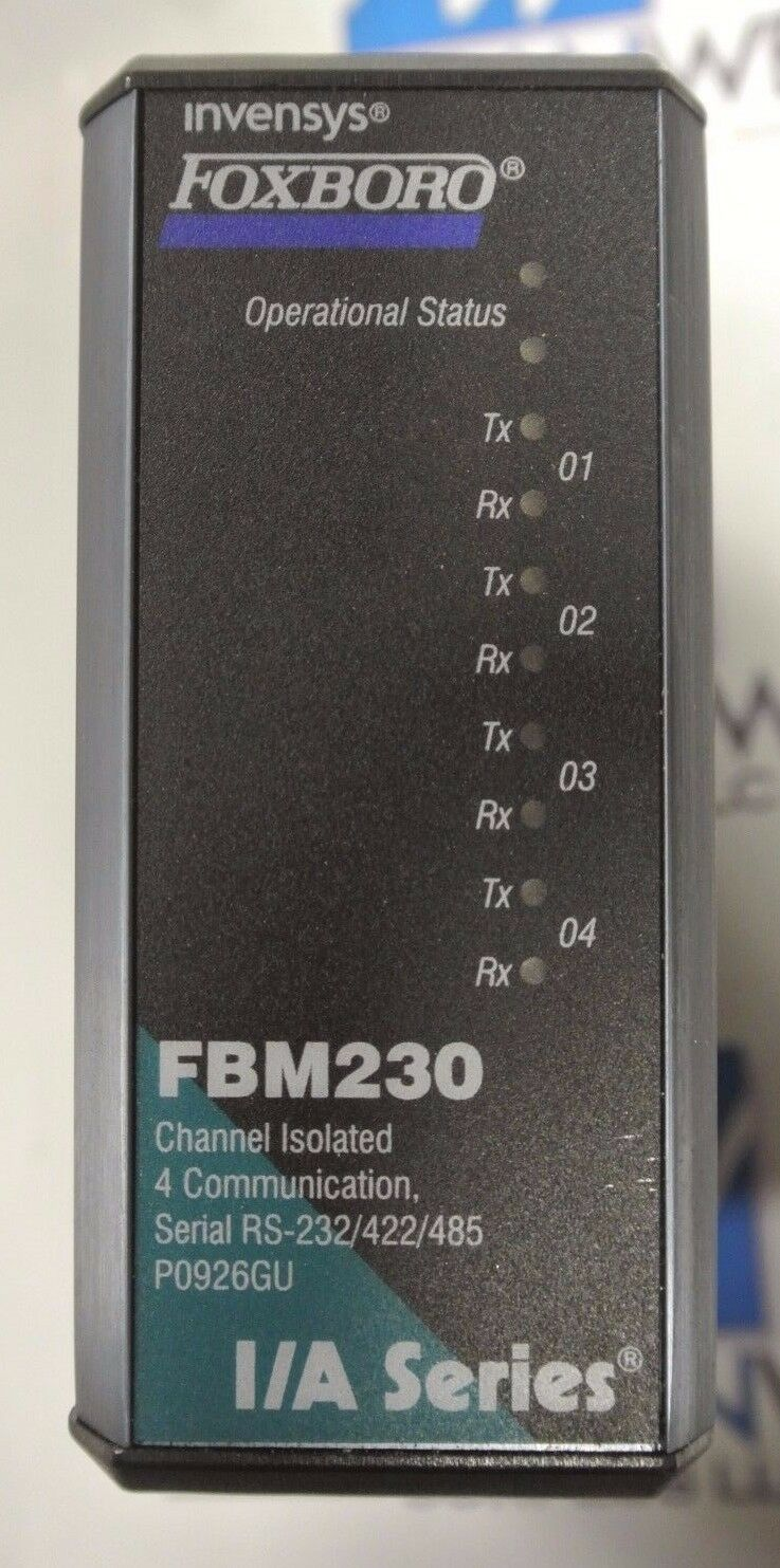 Foxboro Fbm230 Channel Isolated 4 Communication Serial Rs 232 422 Powered Temperature Sensor Norton Secured By Verisign