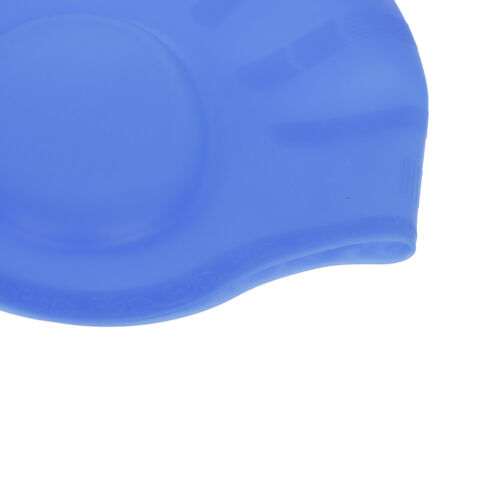 Adult Silicone Swimming Caps Cup Long Hair Stretch Waterproof Latex Bathing E+q