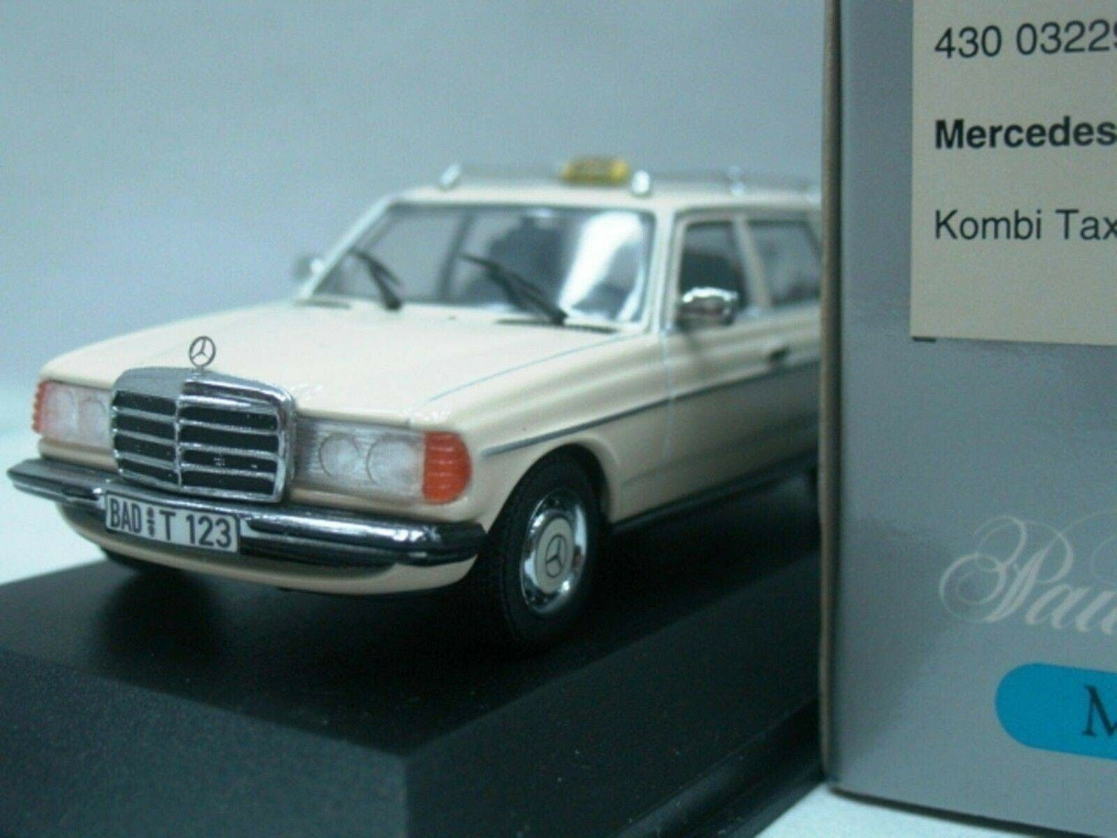 WOW estremamente raro MERCEDES W123 200TD Break TAXI 1:43 Minichamps - 230/300/450/E9