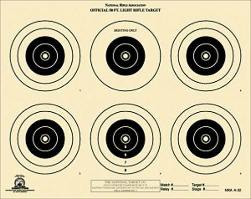 500 Tagboard A-32 NRA Official 50 Foot Light Rifle Target A32 6 bulls,