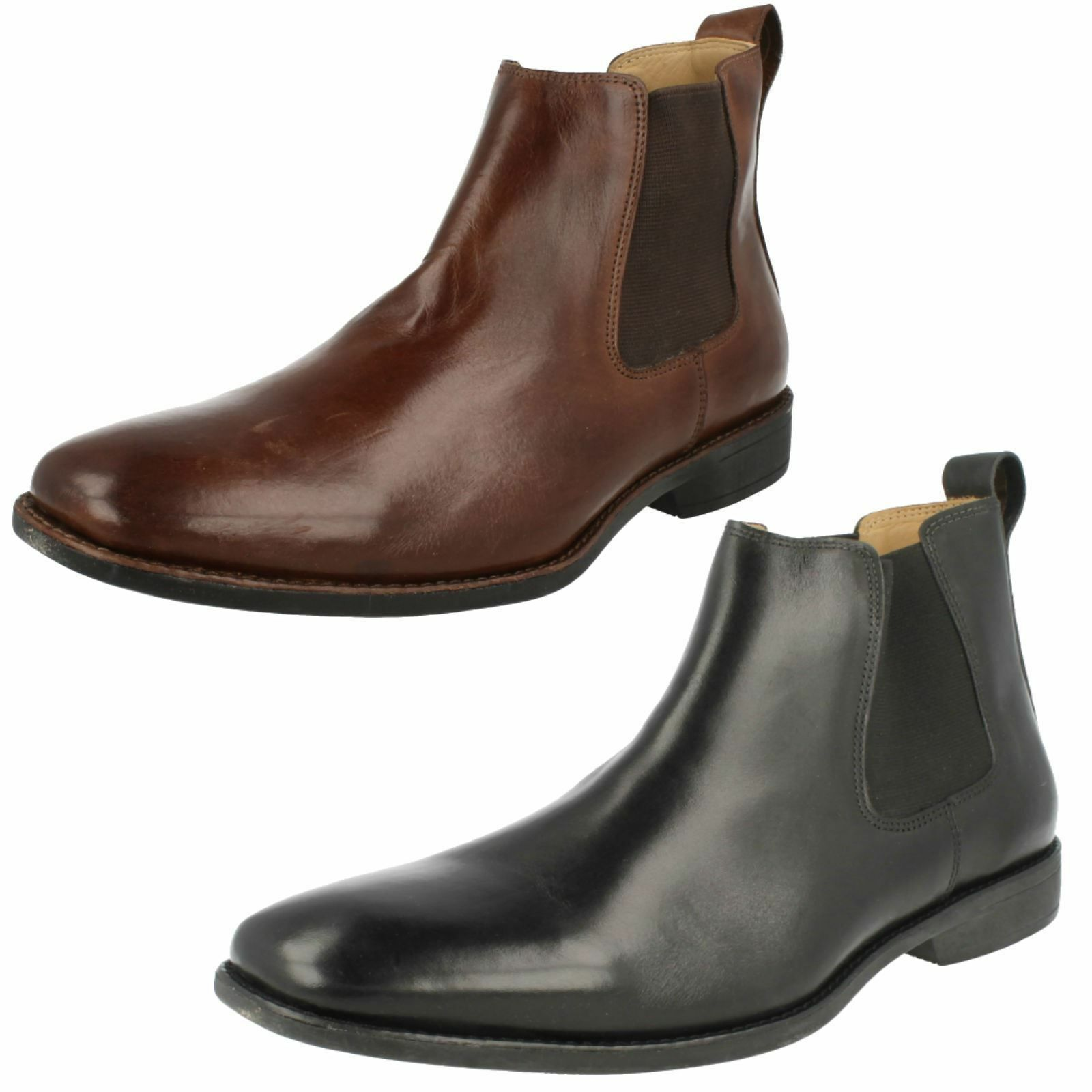 SALE Mens Anatomic&Co Black/Coffee chelsea pull on boots COLOMBO