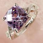 Fashion Women Tourmaline White Topaz Gemstone Silver Jewelry Ring Size 6 7 8 9