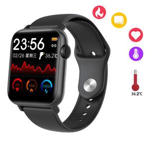 Sport Smart Watch Body Temperature Heart Rate Bracelet for iPhone Samsung Moto body bracelet Featured for heart iphone rate smart sport temperature watch