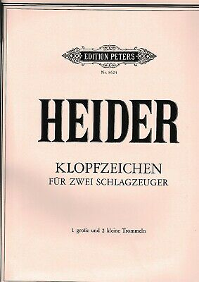 10+w.heider: Klopfzeichen Für 2 Schlagzeuger (1 Große Und 2 Kleine Trommeln). Zu Den Ersten äHnlichen Produkten ZäHlen