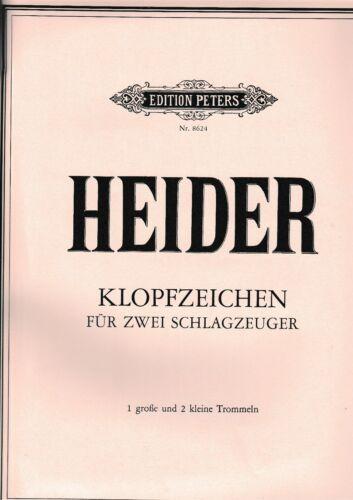 . 1 große und 2 kleine Trommeln Klopfzeichen für 2 Schlagzeuger 10+W.Heider