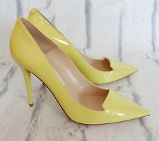 Jimmy Choo £450 Avril Lemon Patent Leather Pumps Heels NWB IT38/UK5