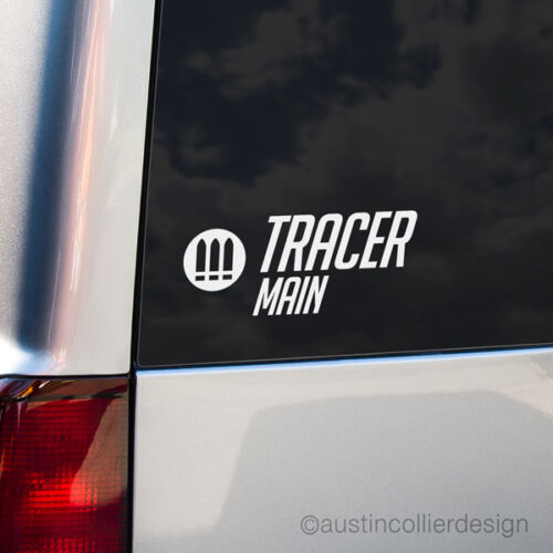 Overwatch eSports Meme TRACER MAIN Vinyl Decal Car Truck Window Laptop Sticker