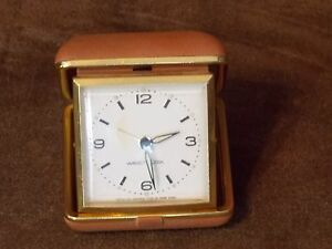 Vintage Westclox Wind Up Alarm Clock Made In Hong Kong Glowing Hands Works Great
