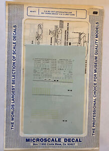 MICROSCALE N SCALE-K&W 3-UNIT ARTICULATED CARS, BN VERSA-DECK 5/10 UNITS #60-477
