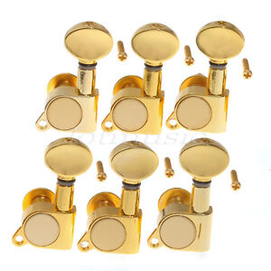 gold guitar string tuning pegs tuners machine heads for electric acoustic 6l 634458549929 ebay. Black Bedroom Furniture Sets. Home Design Ideas