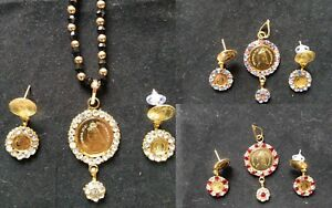 Details about Indian Victorian Coin Necklaces Earrings Wedding Bollywood  Bridal Jewelry Sets