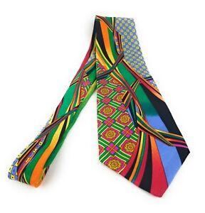 VITALIANO-PANCALDI-Tie-Multicolor-Abstract-Luxury-Italian-Necktie-MINT