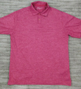 Nike-Golf-Dri-Fit-Men-039-s-Short-Sleeve-Golf-Polo-Medium-Purple-Pink-Polyester