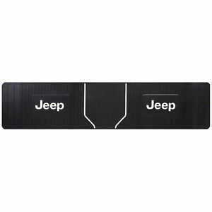 1 Jeep Elite Style Original Black Heavy Duty Rear Runner Rubber Floor Mat