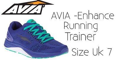 Zapatillas Correr AVIA mejorar Azul Size UK 7 Ligero Nuevo con etiquetas poste libre