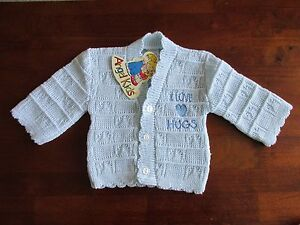 BABY KNITTED CARDIGAN PINK BLUE PRINCE PRINCESS BOYS GIRLS 0-3 3-6 6-9 NEW