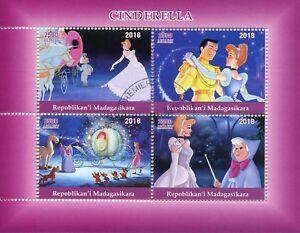 Madagascar-2018-CTO-Cenicienta-4-V-m-s-Disney-Dibujos-Animados-sellos