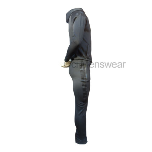 NEW MENS SLIM FIT POLY TRACKSUIT FULL SUIT JOGGERS /& HOODY EXCELLENT QUALITY