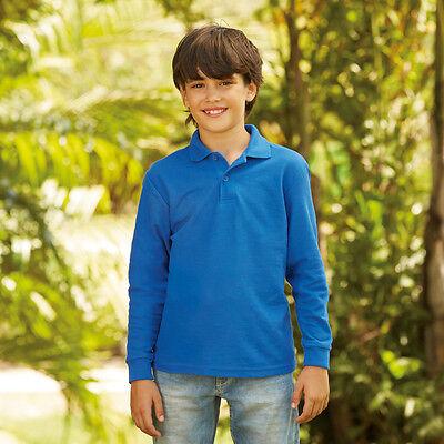 Nero FRUIT OF THE LOOM Valueweight T-shirt per bambini-KIDS MANICA CORTA