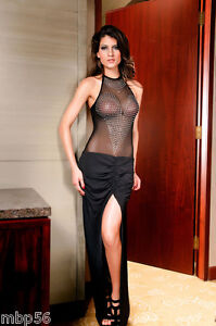 Robe Soiree Lingerie Coquine Sexy Long Gown Dress 38 40 Ebay