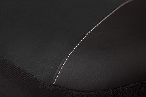 Premium Kunstleder Sitzbezüge Sitzbezug Schonbezüge für BMW X3 Schwarz Set