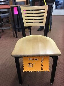 Nice USED Chairs metal frame with wood seat and Back Metal Restaurant Chairs