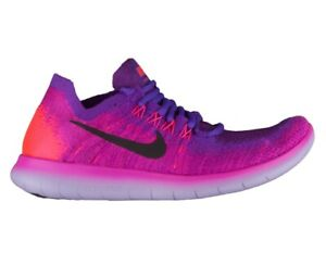 best cheap 9b5af 06f22 Details about Nike Free RN Flyknit 2017 Women's Hyper Grape Rose 880844-600  OG Fire Pink Rare