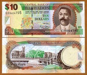 2007 Purposeful Barbados $10 P-68a Unc