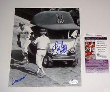 Spaceman Bill Lee Boston Red Sox Signed 8x10 B/W Cart Photo JSA CERT PROOF