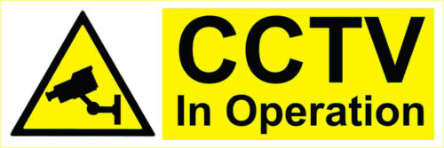 Plastic Sign or Vinyl Stickers Outdoor Waterproof Signs CCTV In operation