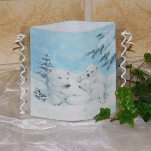 Leuchtdeko Tischleuchte Tischlicht//Windlicht Eisbär//Eisbären//Eisbärfamilie