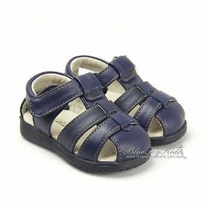 Blueskykidsland-New-Kids-Boys-Leather-Sandals-Shoes-sz-3-9-Brown-Black-Navy