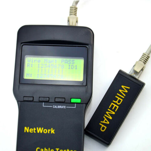 SC8108 RJ45 Network LAN Length Telephone Cable Tester Meter Measure Gauge Tool