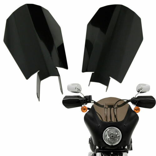 Memphis Shades Black Steel Hand Guards For Harley Sportster Electra Street Glide
