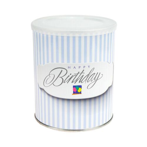 Regalo lata Happy Birthday globos al mismo llenado con caja-Yes